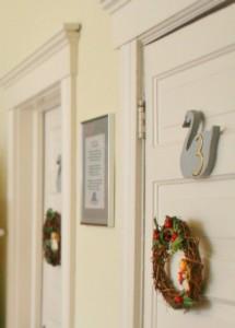 Doors to guest bedrooms
